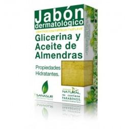 JABON GLICERINA Y ACEITE DE ALMENDRAS DULCES  100 G