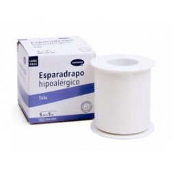 ESPARADRAPO HIPOALERGICO HARTMANN TELA 5 M X 5 CM