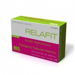 RELAFIT MS ACIDO HIALURONICO + COLAGENO MARINO  500 MG 30 CA