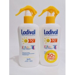PACK LADIVAL NIÑOS FPS 50 200 ML X 2