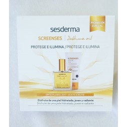 SESDERMA PACK SCREENSES SPF50 FLUIDO + ACEITE SUBLIME