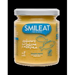 SMILEAT VERDURAS CON LUBINA Y MERLUZA 230 G +8M