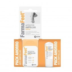 FARMAFEET ANTI-AMPOLLAS  PACK AHORRO 5 APOSITOS + STICK 8 ML