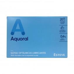 AQUORAL GOTAS OFTALMICAS LUBRICANTES ESTERILES 0.5 ML 20 MON
