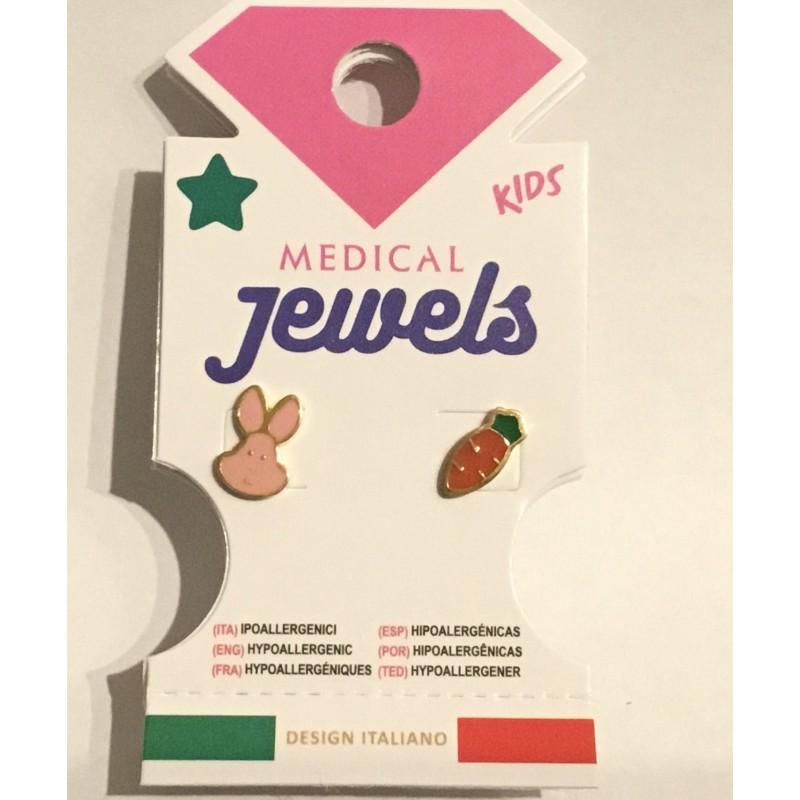 JEWELS PENDIENTE KIDS CONEJITO Y ZANAHORIA